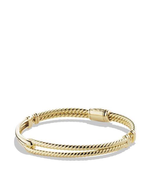 David Yurman - Metallic Petite Pavé Labyrinth Single-loop Bracelet In Gold - Lyst