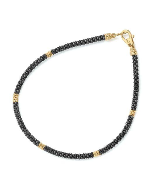 Lagos - Metallic Gold & Black Caviar Collection 18k Gold & Ceramic Rope Bracelet - Lyst