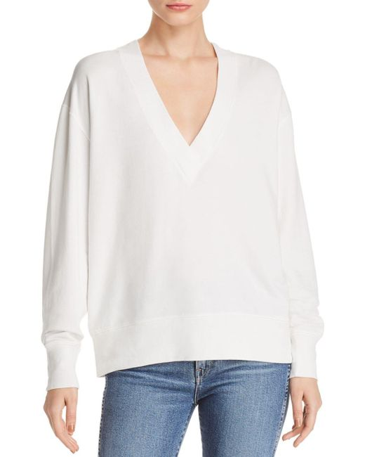 Rag & Bone - White Flora V - Neck Sweatshirt - Lyst