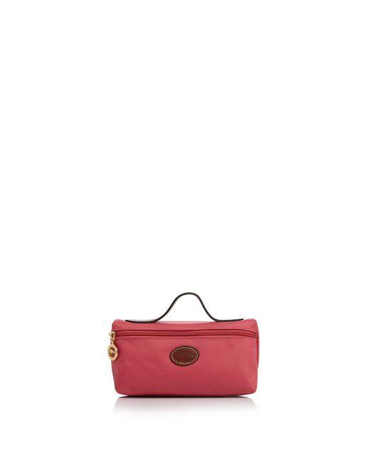 Longchamp - Pink Le Pliage Cosmetic Case - Lyst