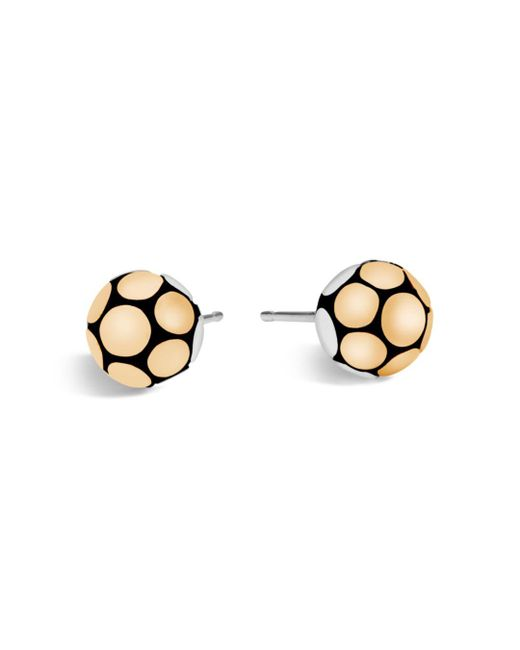 John Hardy - Metallic Sterling Silver And 18k Bonded Gold Dot Medium Ball Earrings - Lyst