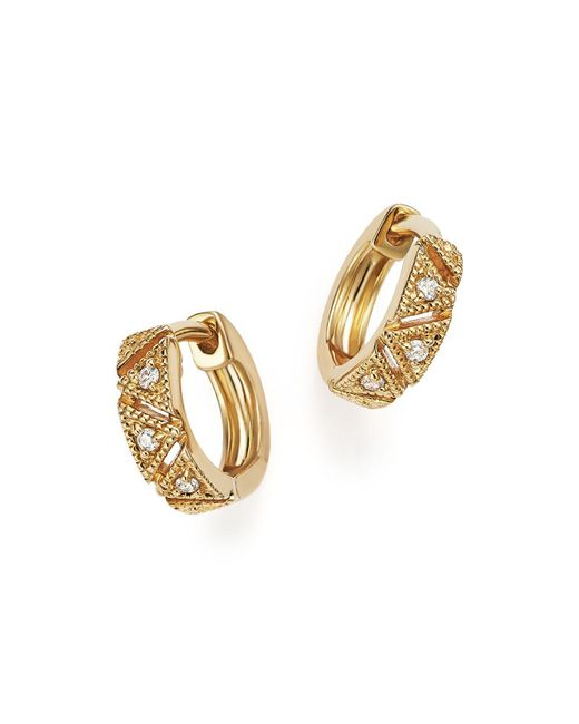 Dana Rebecca | Metallic Kathryn Lynn Huggie Hoop Earrings | Lyst
