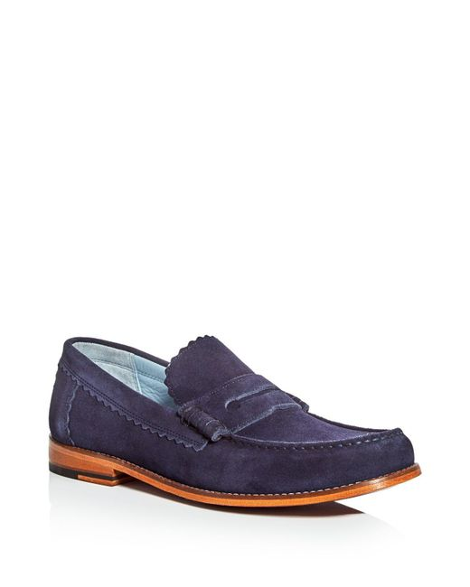 GRENSON | Blue Ashley Penny Loafers for Men | Lyst