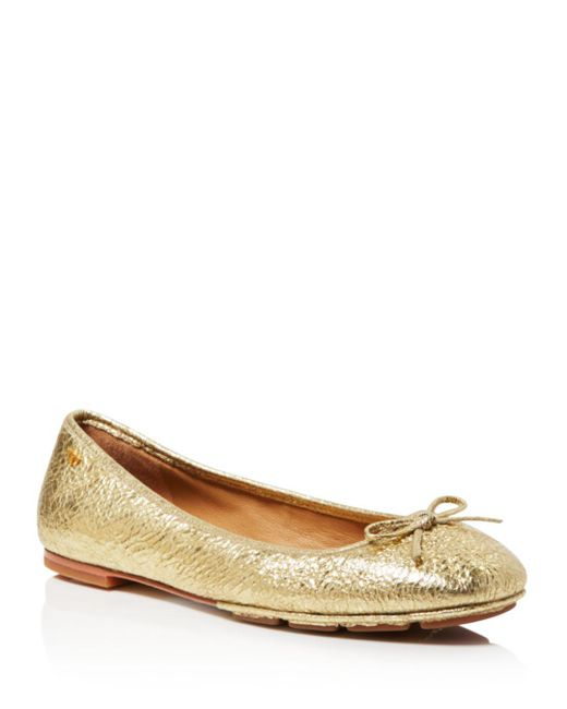 Tory Burch - Multicolor Women's Laila Leather Driver Ballet Flats - Lyst