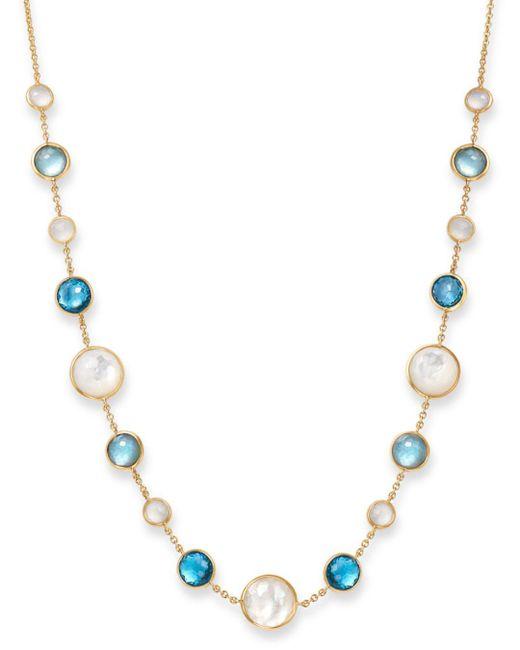 Ippolita - Metallic Mother-of-pearl Doublet & Moonstone Necklace In Raindrop - Lyst