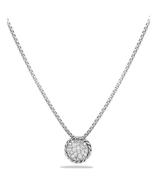 David Yurman - Metallic Châtelaine Pavé Pendant Necklace With Diamonds - Lyst