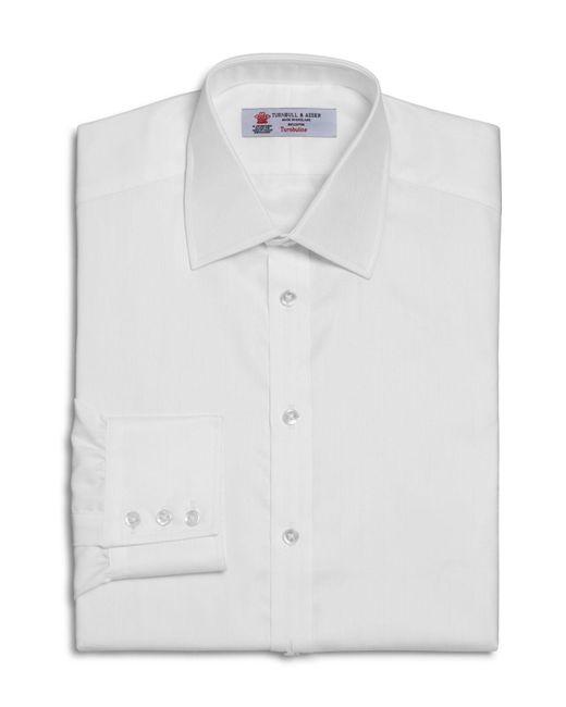 Turnbull & Asser | White Solid Herringbone Regular Fit Dress Shirt for Men | Lyst