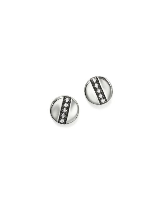Ippolita - Metallic Sterling Silver Glamazon® Stardust Station Stud Earrings With Diamonds - Lyst