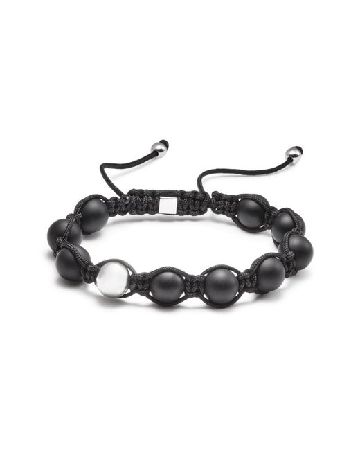 Vitaly | Black Orbis Bead Rope Bracelet for Men | Lyst
