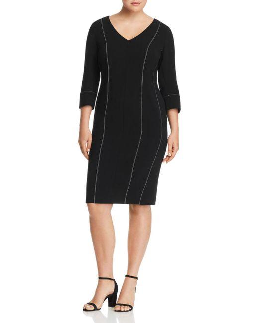 Marina Rinaldi - Black Dalia Sheath Dress - Lyst
