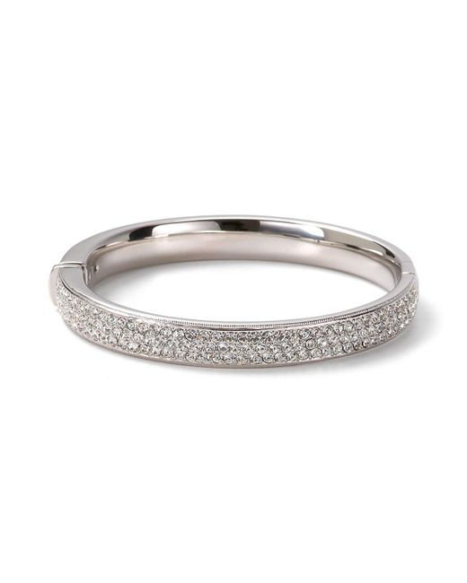 Nadri - Metallic Pave Flat Banded Bangle - Lyst