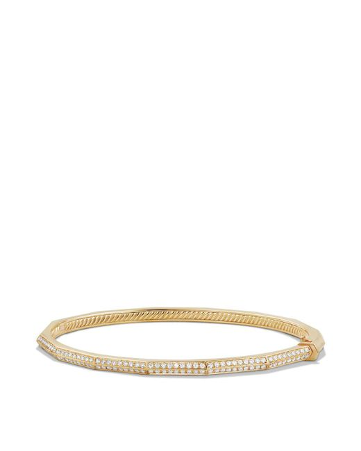 David Yurman - Metallic Stax Faceted Bracelet With Diamonds In 18k Gold - Lyst