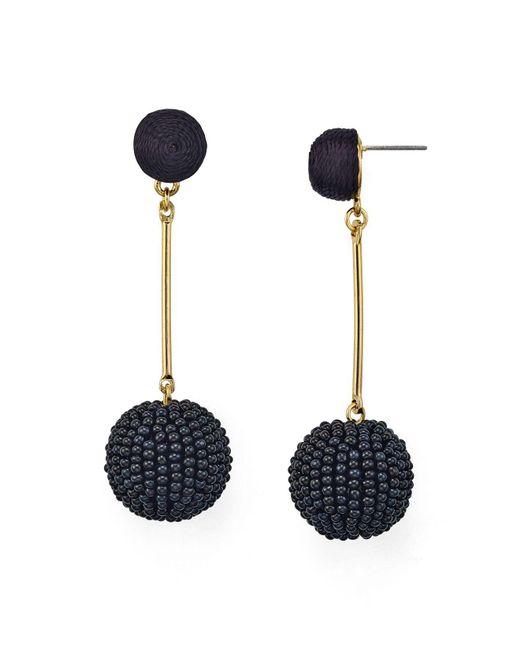 Aqua | Black Double Drop Earrings | Lyst