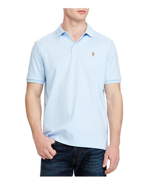 Polo Ralph Lauren - Blue Classic Fit Soft Touch Polo Shirt for Men - Lyst
