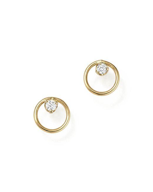 Zoe Chicco - Metallic Paris Stud Earrings - Lyst