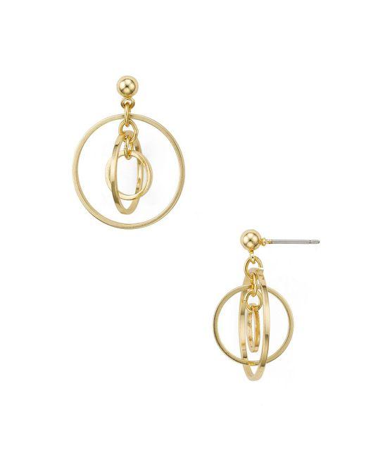 Aqua | Metallic Neda Multi Circle Stud Earrings | Lyst