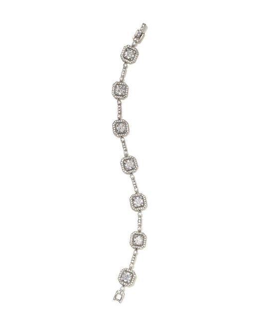 Nadri - Metallic Framed Line Bracelet - Lyst