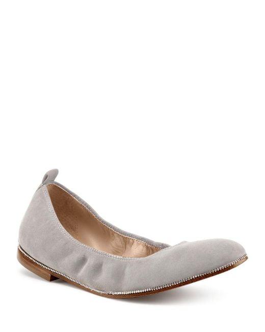 Botkier - Gray Women's Mason Suede Ballet Flats - Lyst