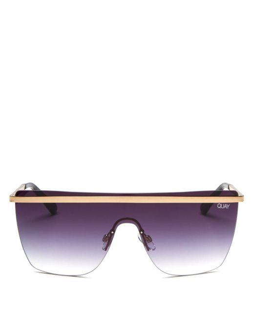 Quay Purple Women's X Jlo Get Right Shield Sunglasses