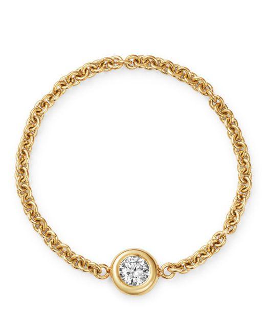 Zoe Chicco - Metallic 14k Yellow Gold Floating Diamond Chain Ring - Lyst