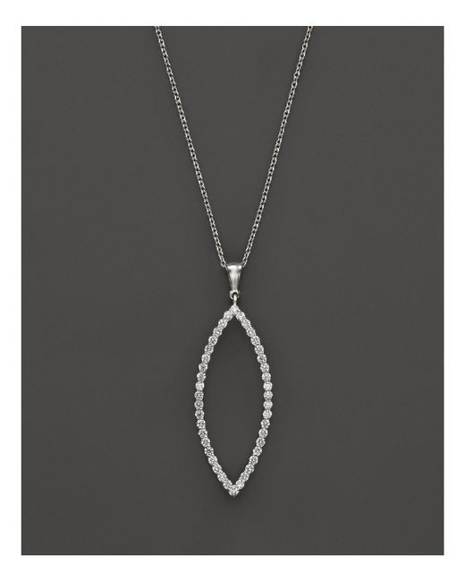 Roberto Coin | 18k White Gold Diamond Open Pendant Necklace, 18"