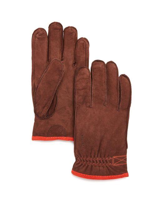Hestra - Brown Tived Leather Gloves for Men - Lyst