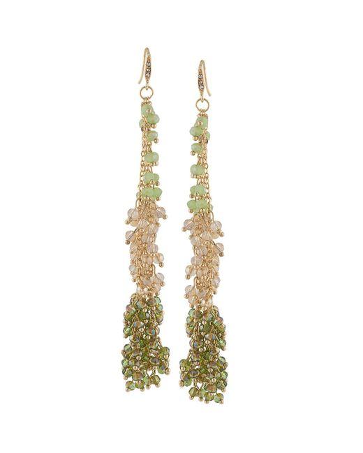 ABS By Allen Schwartz | Metallic Beaded Drop Earrings | Lyst