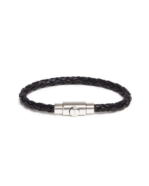 Ferragamo | Black Woven Bracelet With Prong Closure | Lyst
