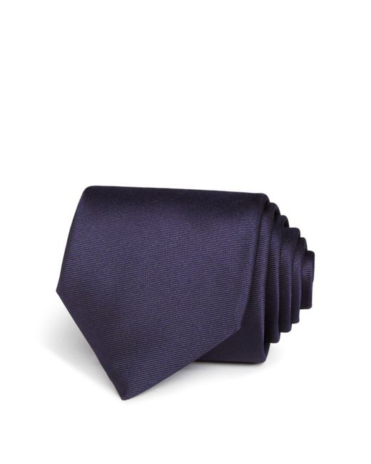 Title Of Work | Blue Double Bias Stripe Classic Tie for Men | Lyst