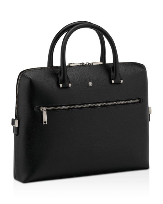 Montblanc - Black Doc Slim Briefcase for Men - Lyst