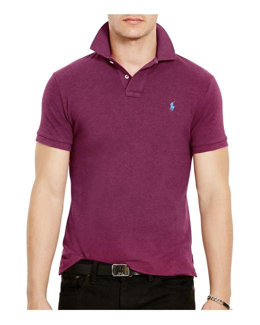 Polo Ralph Lauren | Purple Mesh Slim Fit Polo Shirt for Men | Lyst