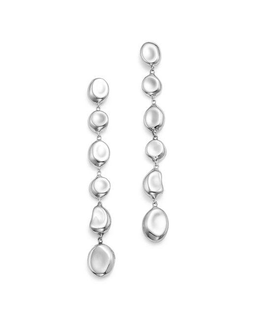 Ippolita | Metallic Sterling Silver Glamazon® Linear Pebble Earrings | Lyst