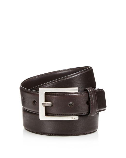 John Varvatos   Brown Leather Dress Belt for Men   Lyst