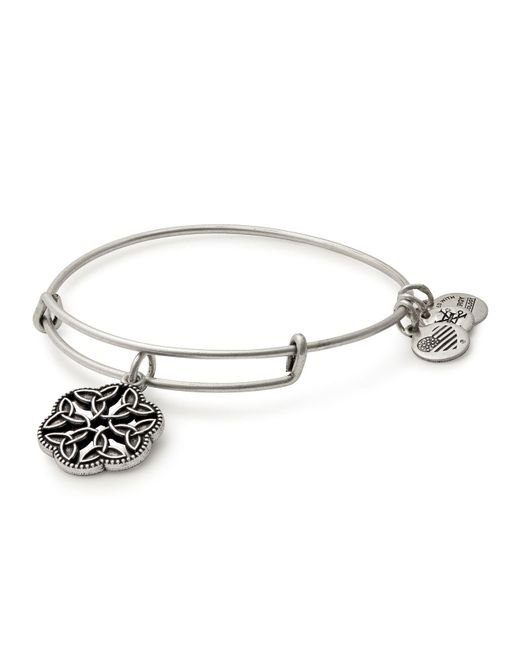 ALEX AND ANI | Metallic Endless Knot Expandable Wire Bangle | Lyst