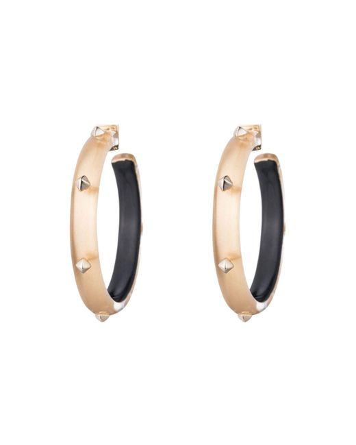 Alexis Bittar | Metallic Studded Hoop Earrings | Lyst