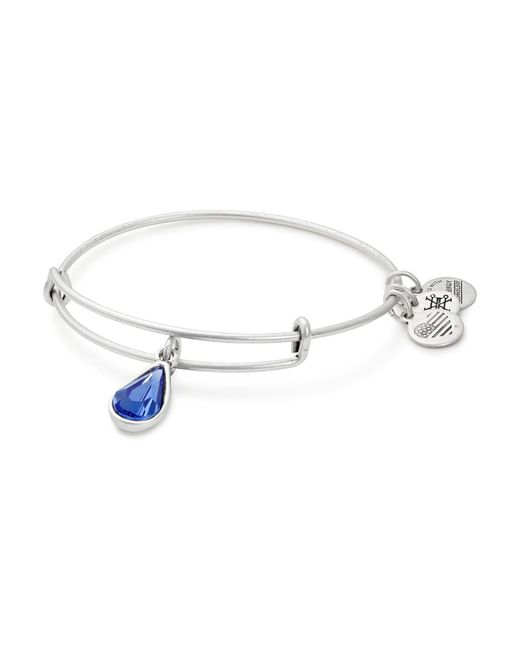 ALEX AND ANI | Metallic September Swarovski Crystal Birthstone Expandable Wire Bangle | Lyst
