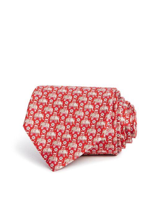 Ferragamo | Red Macro Elephant Classic Tie for Men | Lyst