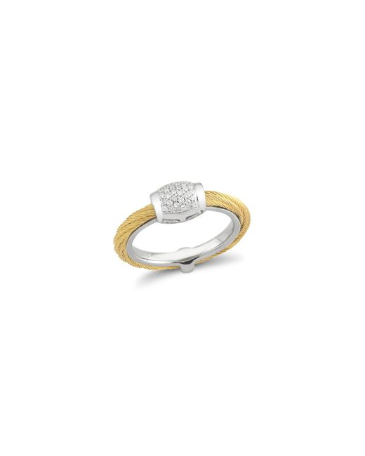 Alor | Metallic Diamond Yellow Cable Ring | Lyst