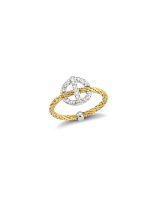 Alor | Metallic Diamond Yellow Cable Ring | Lyst