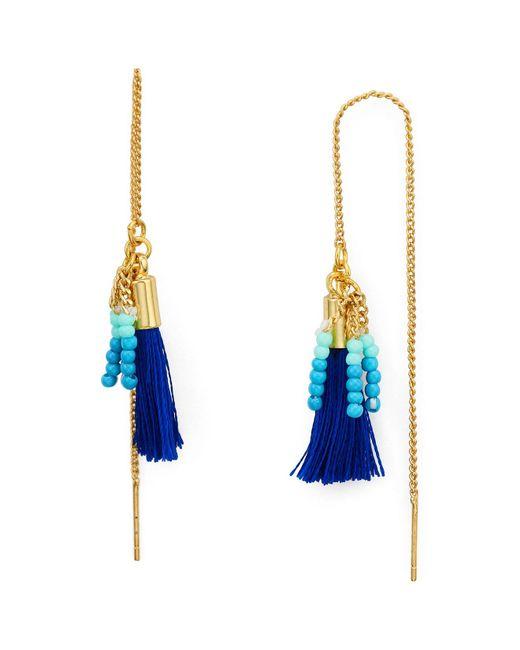 Rebecca Minkoff | Multicolor Threader Tassel Earrings | Lyst