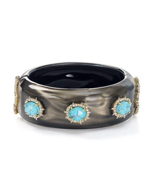 Alexis Bittar | Multicolor Liquid Satin Hinge Bangle | Lyst