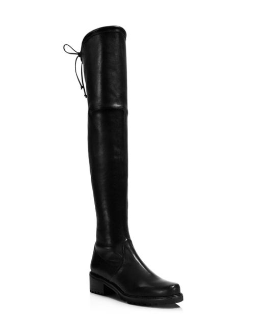 Stuart Weitzman | Black Vanland Leather Over The Knee Boots | Lyst