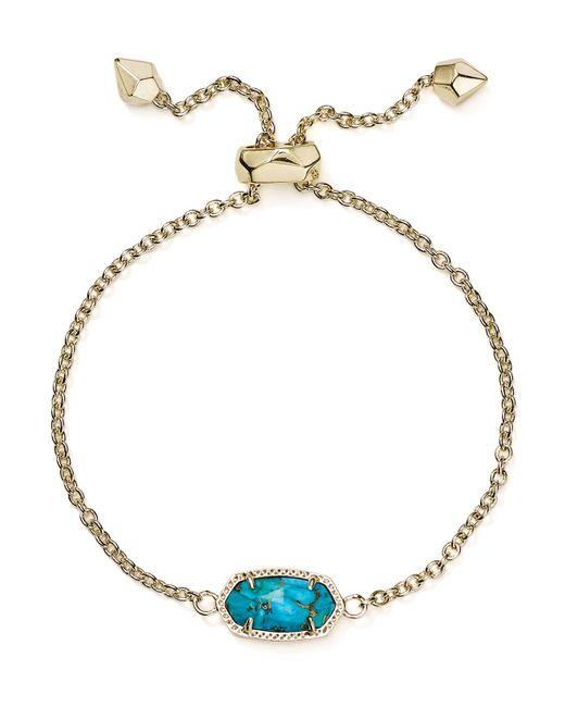 Kendra Scott | Metallic Magnesite Elaina Bracelet | Lyst