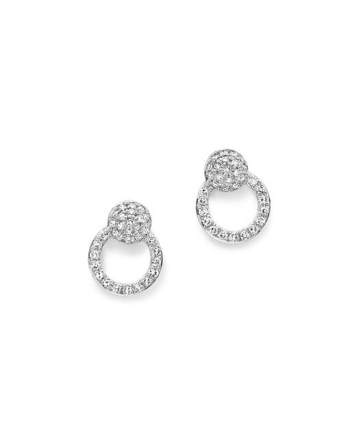 KC Designs | 14k White Gold Diamond Mini Circle Earrings | Lyst