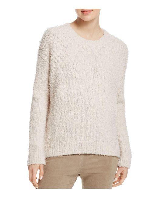 Vince | White Textured Merino Wool Sweater | Lyst