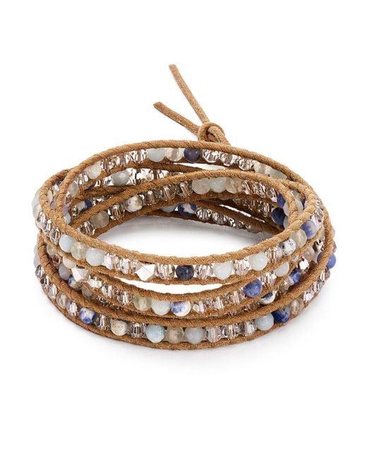 Chan Luu | Multicolor Mixed Stone Wrap Bracelet | Lyst