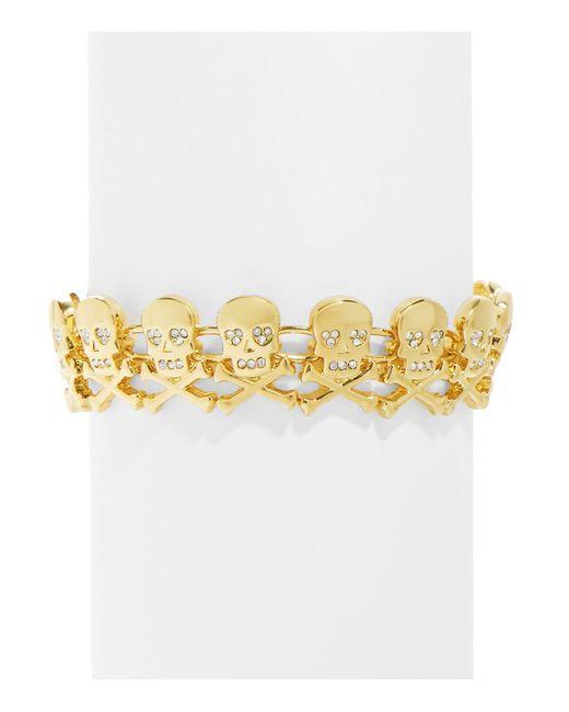 BaubleBar   Metallic Crossbone Bracelet   Lyst