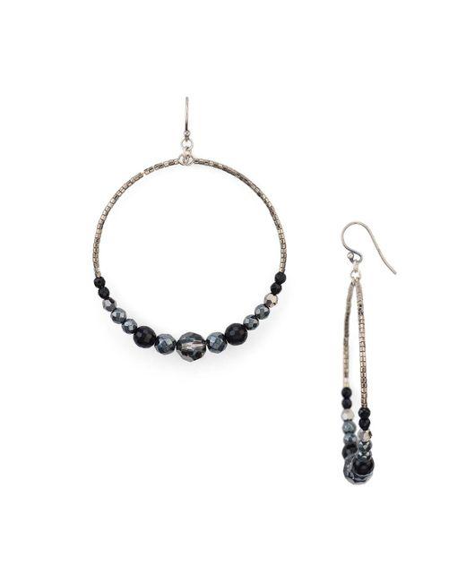 Chan Luu | Metallic Beaded Hoop Earrings | Lyst