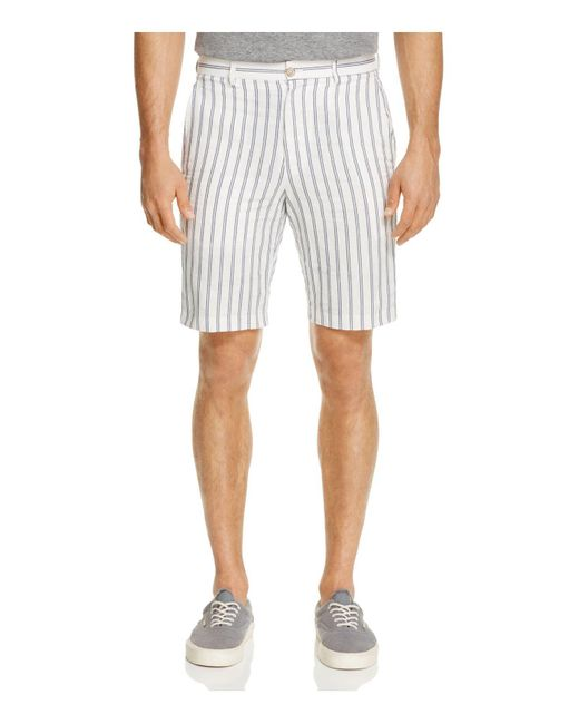 Haspel | White Bienville Stripe Shorts for Men | Lyst