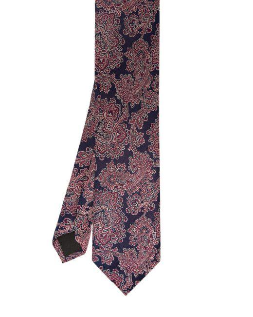 Ted Baker - Purple Fever Floral-print Silk Skinny Tie for Men - Lyst